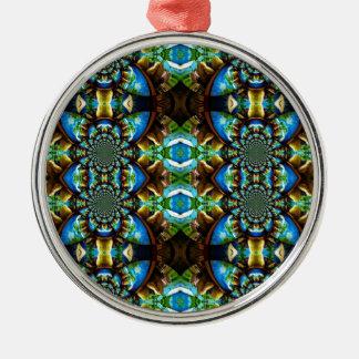 Modelo de cadena abstracto de Brown del verde azul Adorno Para Reyes