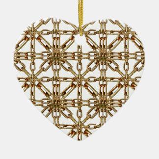 Modelo de cadena adorno de cerámica en forma de corazón