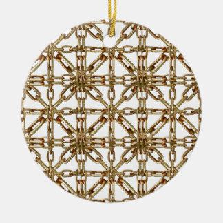 Modelo de cadena adorno navideño redondo de cerámica