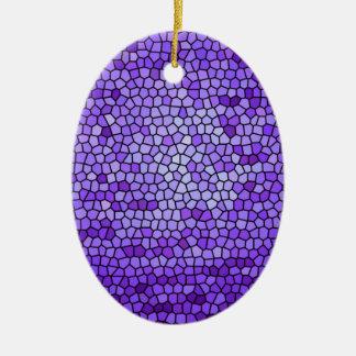 Modelo de color de malva púrpura del vitral del adorno ovalado de cerámica
