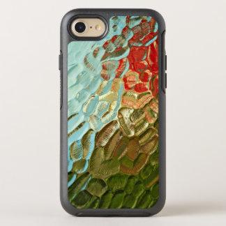 modelo de cristal texturizado colorido abstracto funda OtterBox symmetry para iPhone 8/7