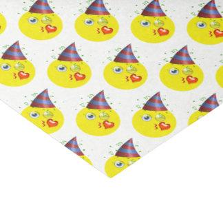 Modelo de Emoji del cumpleaños Papel De Seda