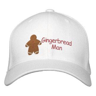 Modelo de encargo del bordado del hombre de pan de gorra de beisbol bordada