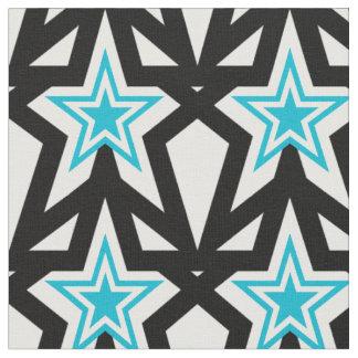 Modelo de estrella azul brillante de la aguamarina tela