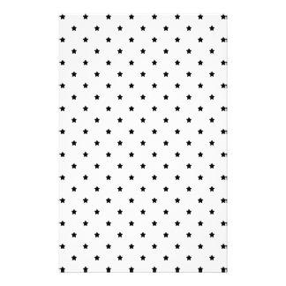Modelo de estrella blanco y negro folleto 14 x 21,6 cm