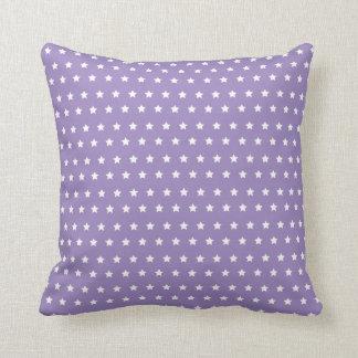 Modelo de estrella. Colección púrpura de la Cojín Decorativo
