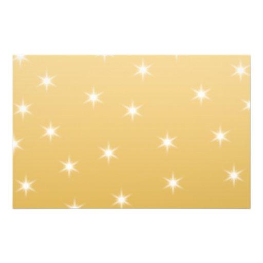 Modelo de estrella del blanco y del color oro tarjeton