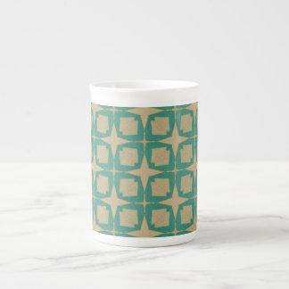 Modelo de estrella del vintage taza de té