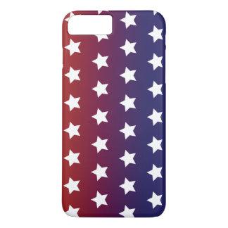 Modelo de estrella roja, blanca y azul funda iPhone 7 plus
