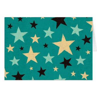 Modelo de estrella tarjeta de felicitación