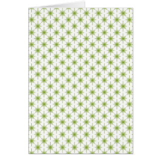 Modelo de estrella verde moderno del navidad felicitación