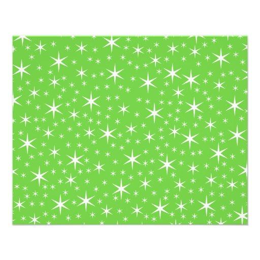 Modelo de estrella verde y blanco tarjetones