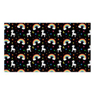 Modelo de estrellas negro de los corazones del uni tarjeta de negocio