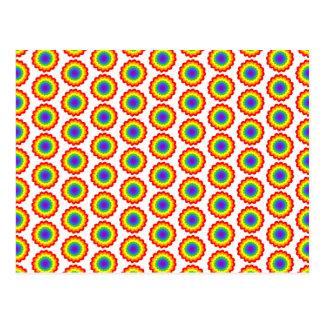 Modelo de flor del color del arco iris postal