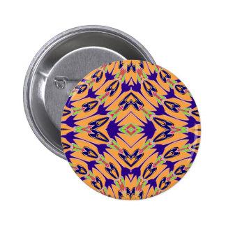 Modelo de flores abstracto anaranjado violeta pin