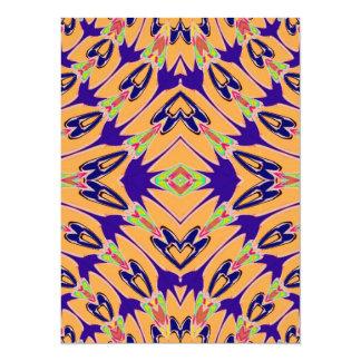 Modelo de flores abstracto anaranjado violeta comunicados personales