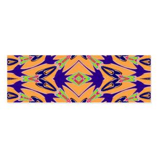 Modelo de flores abstracto anaranjado violeta tarjetas personales