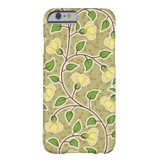 Modelo de flores amarillo hermoso funda barely there iPhone 6