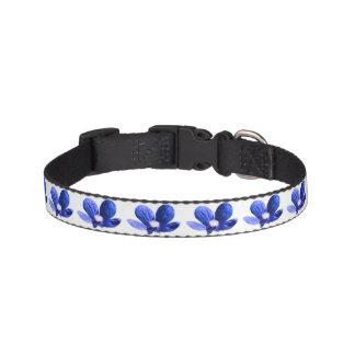 Modelo de flores azules collar para mascotas