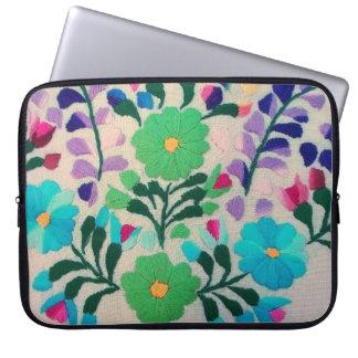 Modelo de flores colorido funda para portátil