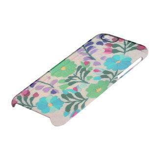 Modelo de flores colorido funda transparente para iPhone 6/6s
