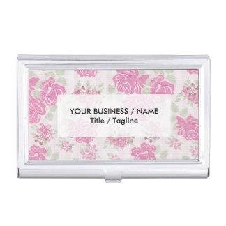 Modelo de flores elegante lamentable de los rosas cajas de tarjetas de negocios