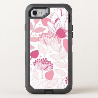 Modelo de flores rosado Otterbox Iphone 6 Funda OtterBox Defender Para iPhone 7