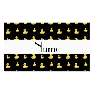 Modelo de goma negro conocido personalizado del tarjeta de visita