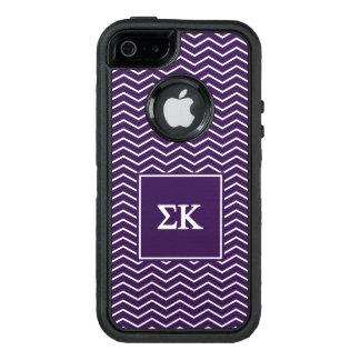Modelo de Kappa el | Chevron de la sigma Funda OtterBox Defender Para iPhone 5
