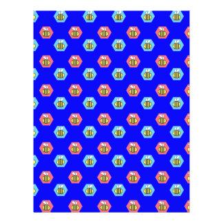 Modelo de la abeja en azul folleto 21,6 x 28 cm