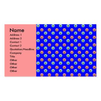 Modelo de la abeja en azul tarjetas de visita