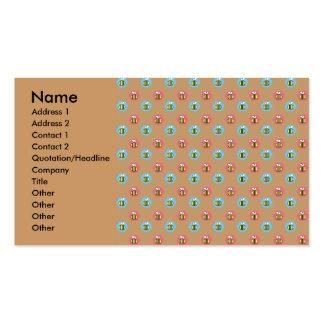 Modelo de la abeja en marrón tarjetas de visita