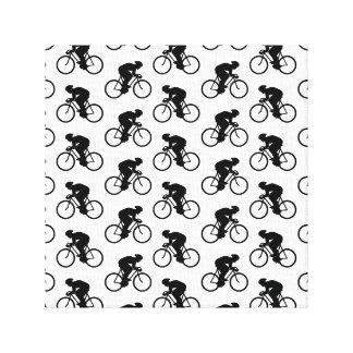Modelo de la bicicleta en blanco y negro. lona estirada galerias