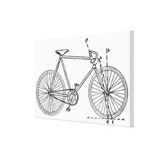Modelo de la bicicleta impresiones en lienzo estiradas