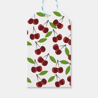 Modelo de la cereza etiquetas para regalos