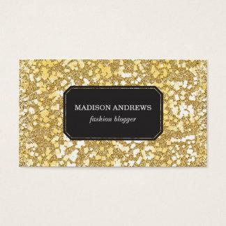 Modelo de la chispa de la escama del oro tarjeta de negocios