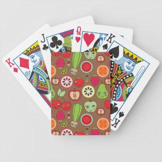 Modelo de la cocina de la fruta cartas de juego