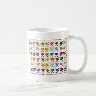 Modelo de la cometa de la mariposa taza de café