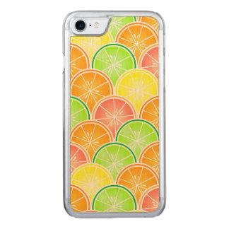 Modelo de la concha de peregrino de la fruta funda para iPhone 7