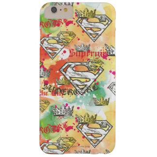 Modelo de la corona de Supergirl Funda De iPhone 6 Plus Barely There