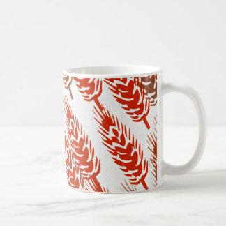 modelo de la cosecha con trigo taza de café