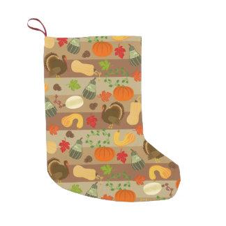 Modelo de la cosecha del otoño de la calabaza de calcetín de navidad pequeño