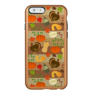 Modelo de la cosecha del otoño de la calabaza de funda para iPhone 6 plus incipio feather shine