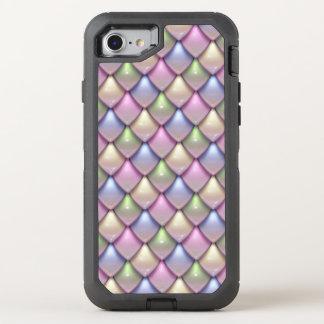 Modelo de la escala de la fantasía del arco iris funda OtterBox defender para iPhone 8/7