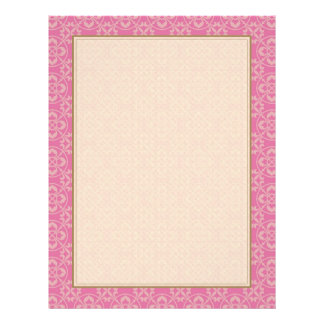 Modelo de la flor de lis en rosa flyer personalizado