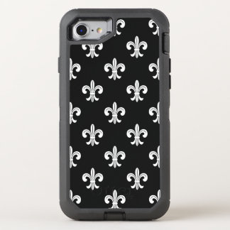 Modelo de la flor de lis funda OtterBox defender para iPhone 7