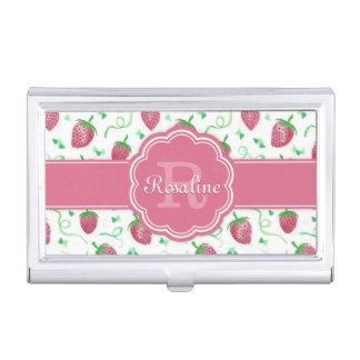 Modelo de la fresa de la acuarela con el monograma cajas de tarjetas de negocios