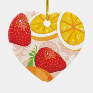 Modelo de la fruta adornos de navidad