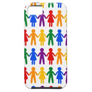 Modelo de la gente del arco iris funda para iPhone SE/5/5s