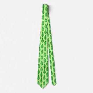 Modelo de la hoja de la haya - sombras del verde corbata